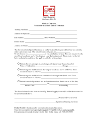 Pre Dental Resume Permission To Resume Dental Treatment Form In Word And Pdf Formats