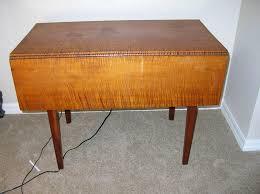 Vintage Drop Leaf Table Antique Tiger Maple Drop Leaf Table 1790 U0027s 1820 U0027s From