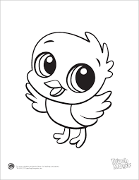 learning friends baby animal coloring printable from