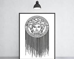 versace wall art etsy