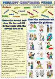 present continuous tense esl printable worksheets and exercises