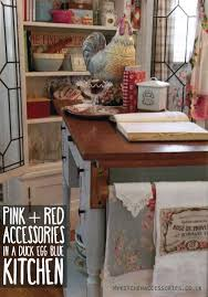 Kitchen Accessories In Red - red and pink kitchen accessories in a duck egg blue kitchen home