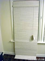 White Bamboo Curtains Lovable White Bamboo Shades Designs With How To Shorten