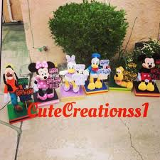 mickey mouse clubhouse centerpieces cutecreationshop1 by yesy cutecreationss1 instagram photos