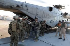 lejeune based infanty marines practice helo tactics in arizona