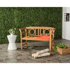 Outside Benches Home Depot by Safavieh Moorpark Outdoor 2 Seat Acacia Patio Bench In Teak