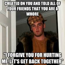 Funny Whore Memes - cheated on you and told all of your friends that you are a whore i