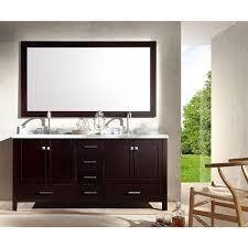 Espresso Vanity Table Ariel Cambridge 73 Inch Double Sink Espresso Vanity Set Free