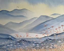 Mountain Landscape Paintings by Mountain Painting Etsy