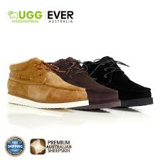 ugg men ankle boots lucas cow leather upper sheepskin lining high