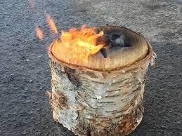 light and go bonfire light n go bonfire all natural birch stump the yard llc