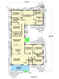 U Shaped House Plans With Pool In Middle Plan 32221aa 6 Bedroom U Shaped House Plan Open Floor Storage