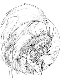 136 lineart dragons images dragons drawings