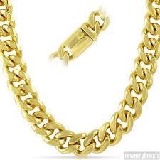 luxury bracelet gold chains images 15mm 14k gold ip luxury miami cuban chain jewelryfresh jpg