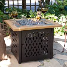 Fire Pit With Glass by Red Ember Desert Sand 32 In Square Propane Fire Pit Table Hayneedle