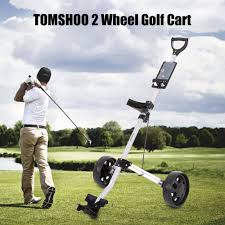 golf cart tomshoo golf cart foldable 2 wheels push cart aluminum pull sales