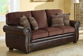 Traditional Living Room Furniture Stores by Homelegance Beckstead Sofa Set Chocolate Chenille And Dark Brown