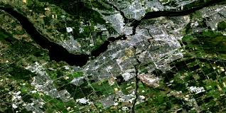 Satellite View Map Ottawa On Free Satellite Image Map 031g05 At 1 50 000