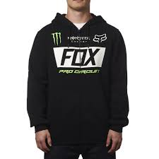 motocross gear monster energy fox racing monster energy paddock zip hoody black available at