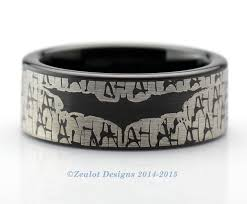 batman wedding band batman wrap around ring tungsten wedding band ring mens womens