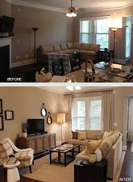 furniture arrangement small living room see the two round hanging pics by tv print water related pics or