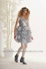 silver flower dresses size 16