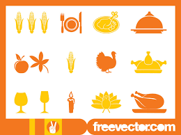 thanksgiving icons set vector graphics freevector