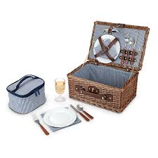 picnic basket set seaside newport wicker picnic basket set with place settings