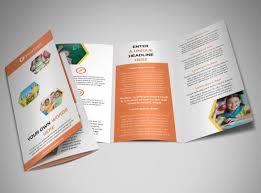 tri fold school brochure template creative child development brochure template mycreativeshop