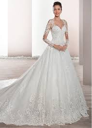 a line wedding dresses buy discount junoesque tulle sheer neckline a line wedding