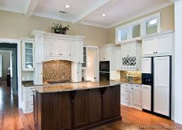 Black Kitchen Cabinets White Subway Tile Dark Kitchen Cabinets With Off White Island U2013 Quicua Com