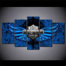 harley davidson bar and shield logo with blue wings 5 piece