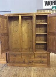 Wardrobe With Shelves by Huddersfield Pine U0026 Oak Furniture Wardrobes