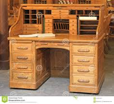 Antique Roll Top Secretary Desk by Vintage Roll Top Desk Stock Photo Image 67907647