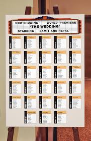 movie themed wedding ideas seating plan board for a movie night themed wedding reception see