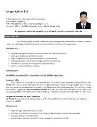 Hr Coordinator Sample Resume by Hr Resume Template Basic Resume Template For Senior Hr