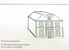 the helpful art teacher perspective drawing 101 drawing a house