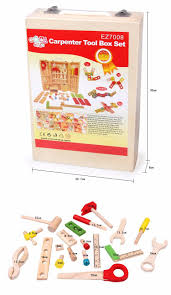 toys wooden carpenter tool box set disassembly and assembly toy