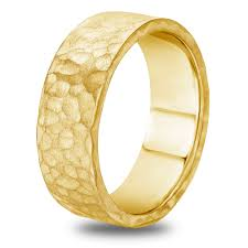 mens yellow gold wedding bands 14k 18k white or yellow gold hammered finish mens wedding band ebay