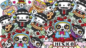 kawaii graffiti day of the dead halloween doodles by garbi kw