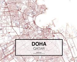 doha qatar map doha dwg mapacad
