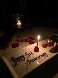 3rd wedding anniversary our 3rd wedding anniversary emailed to make reservation and has