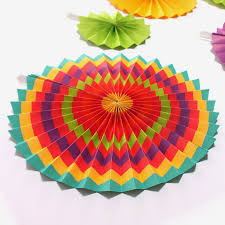 Valentines Day Stage Decor by 30pcs Colorful Striped Paper Flowers Fan Wedding Decor Birthday