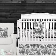 Black And White Toile Bedding Black Baby Bedding Sets Designer Custom Nursery Decor