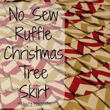 no sew ruffle tree skirt the crafty stalker
