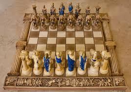 ancient chess set ceramic handmade chess set greek gods of olympus big