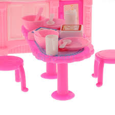 online shop 26pcs doll kitchen accessories dining table chairs