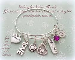 goddaughter charm bracelet goddaughter gift goddaughter jewelry personalized gift