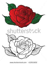 tattoo rose design element stock vector 412011832 shutterstock