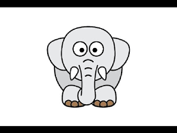 how to draw a cute elephant easy step by step как нарисовать